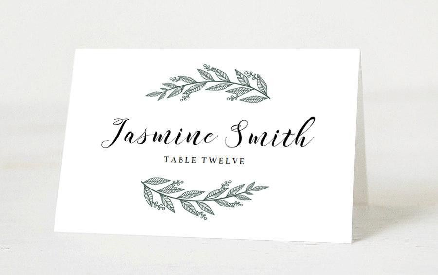Editable Wedding Place Cards Template Printable Place Cards ...