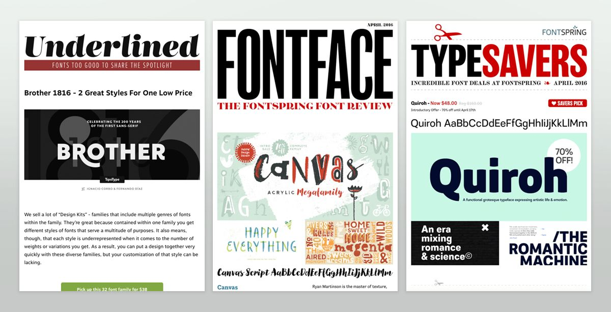 Fontspring Newsletter