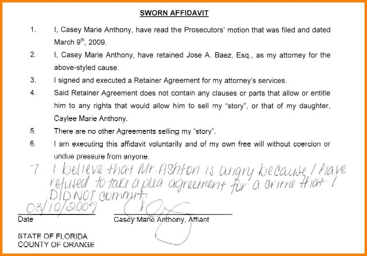 Sworn Statement Examples.Personal Sworn Statement Sample.jpg ...