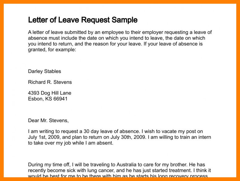 4+ leave application email to boss | army memo format