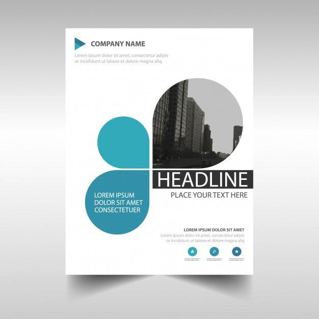 Blue creative annual report book cover template Vector | Free Download