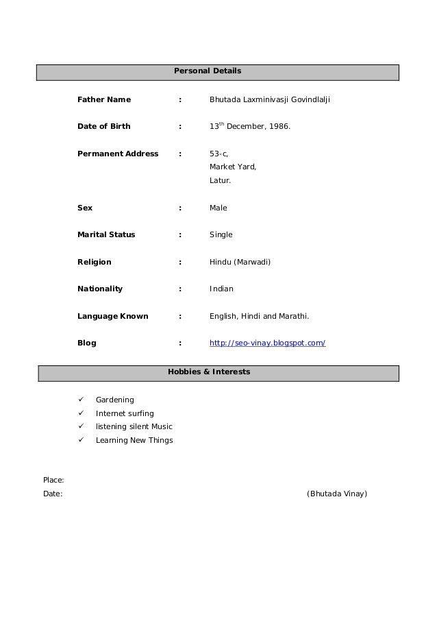 Vinay SEO Resume - Sr. Search Engine Optimizer and Website Designer