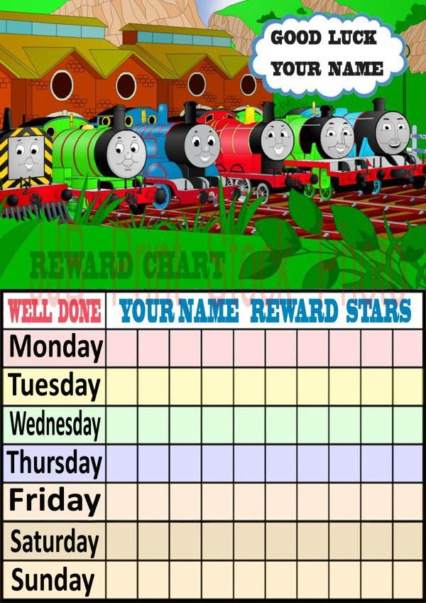 7 Best Images of Thomas The Train Behavior Chart - Thomas the ...