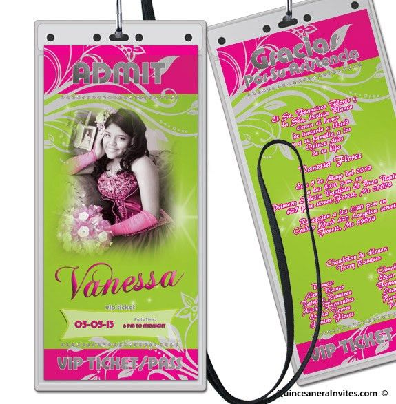 VIP TICKET / PASS Party Invitations