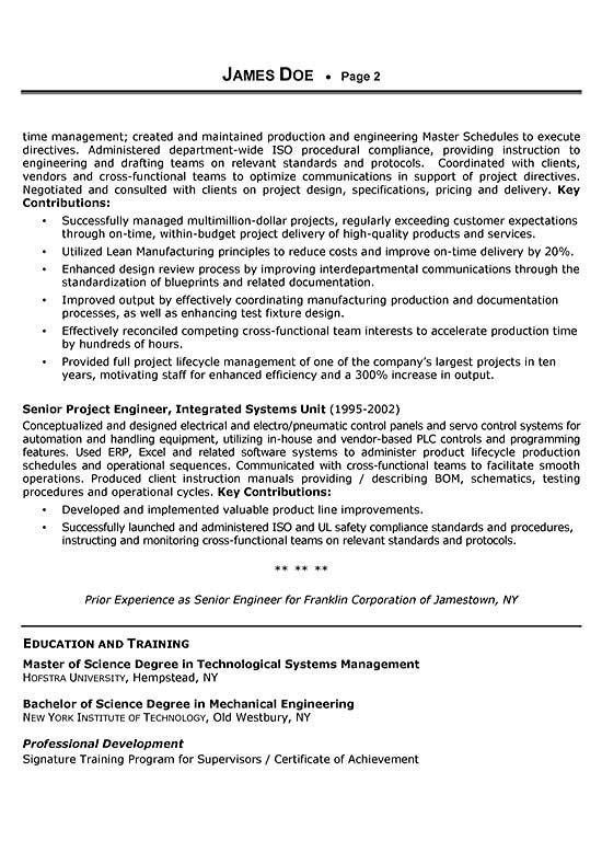 Sales Engineer Resume Example