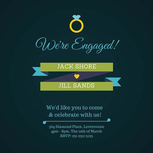 Free Engagement Party Invitations Templates | earthmovers.us