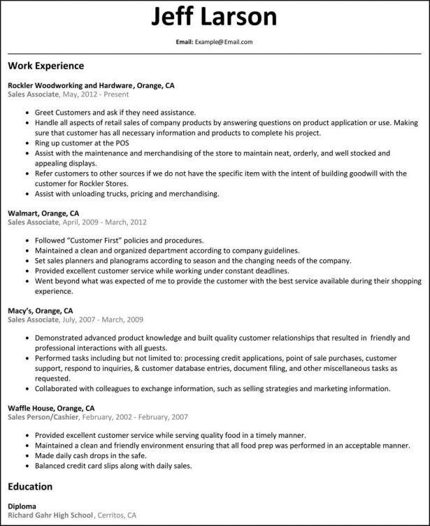 Resume : Accounts Assistant Work Experience Healthy Hunger Calgary ...