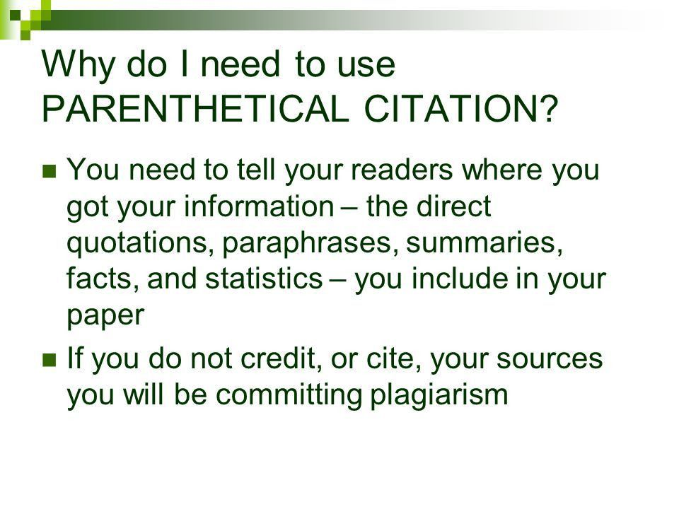 The MLA Style Research Paper Citations in Text – Using ...