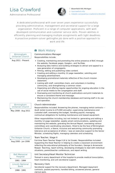 Operator Resume samples - VisualCV resume samples database