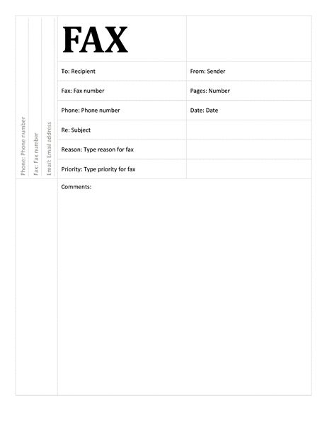 Fax cover sheet (Academic design) - Office Templates