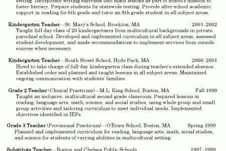 sample math teacher resumes