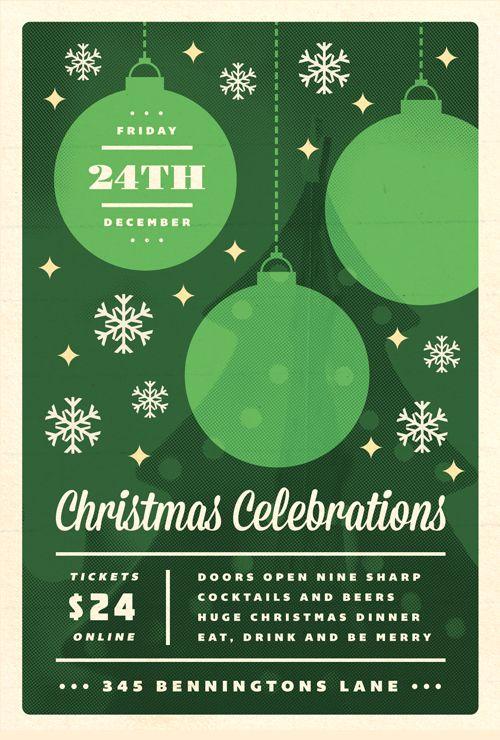 Celebrations - Christmas Flyer Template | PRINT | Pinterest ...