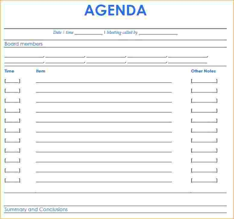 6+ free meeting agenda template | Outline Templates