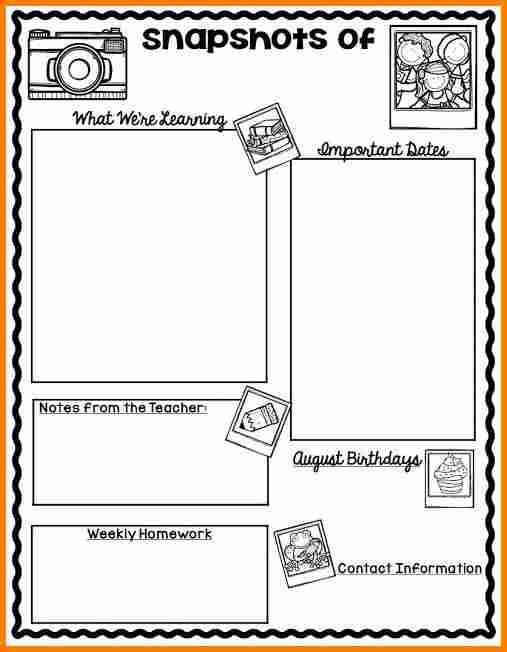 6+ classroom newsletter template | resume reference