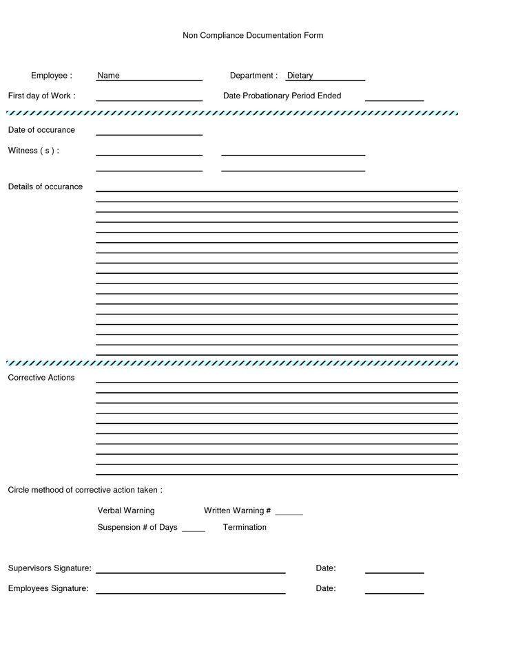 Employee Warning Form. Sample Verbal Warning Verbal Warning ...