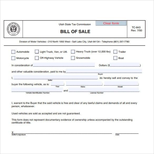 Used Car Sale Of A Bill-7+ Download Free Documents In PDF , WORD