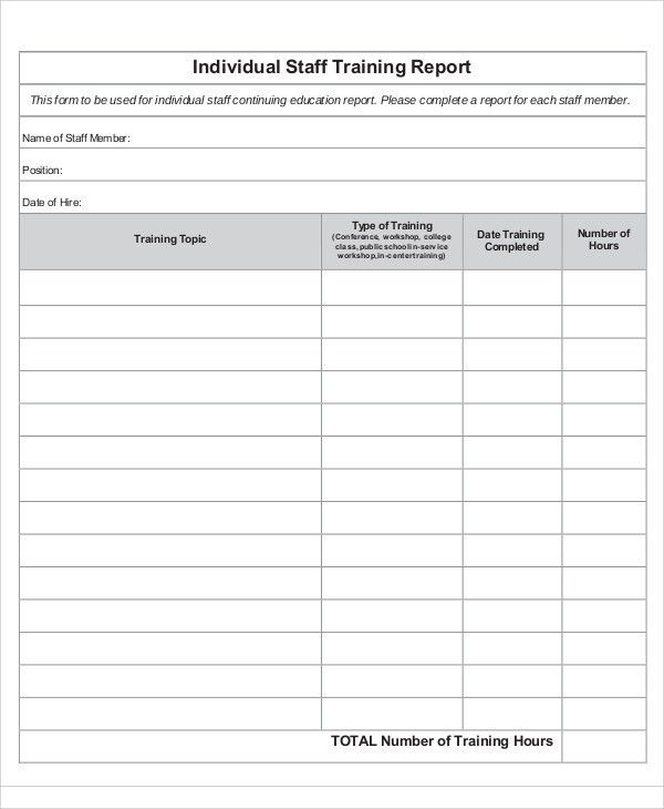 10+ Training Report Templates - Free Sample, Example Format ...