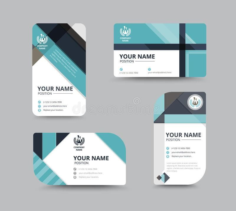 Business Name Card Design For Corporation. Card Template. Vector ...