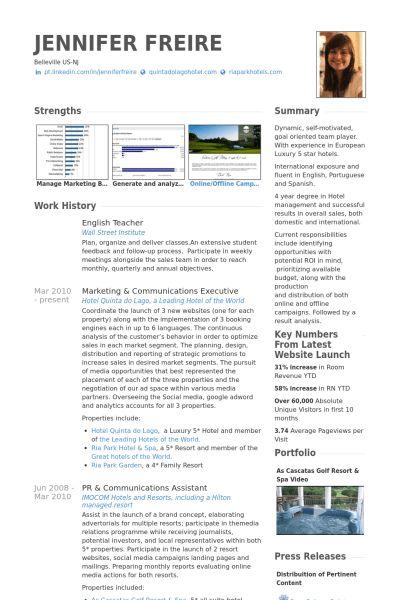 English Teacher Resume samples - VisualCV resume samples database