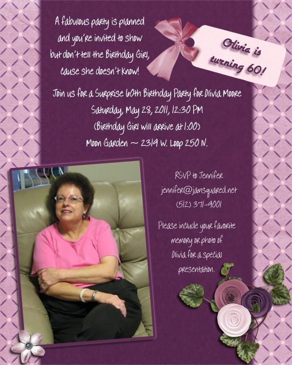 60Th Birthday Invitation Ideas   wblqual.com