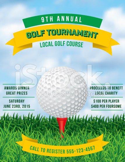 Golf Tournament / Event Poster or Flyer | Golf, Event flyers and ...