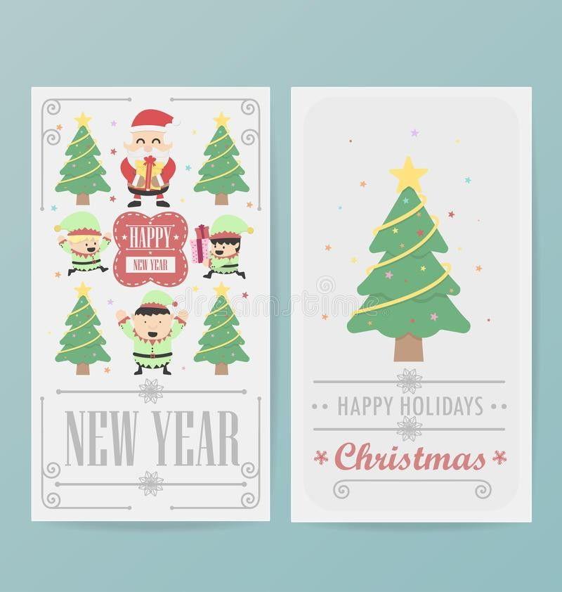 Christmas Card Design Layout Template Stock Vector - Image: 47571117