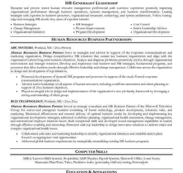 Hr Business Partner Resume 22 Recruiter Resume Example Executive ...