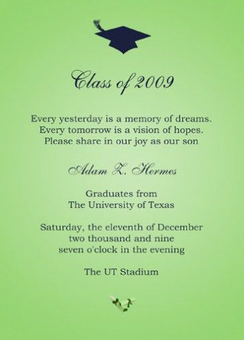 Graduation Invitation Etiquette 2017 | THEWHIPPER.COM