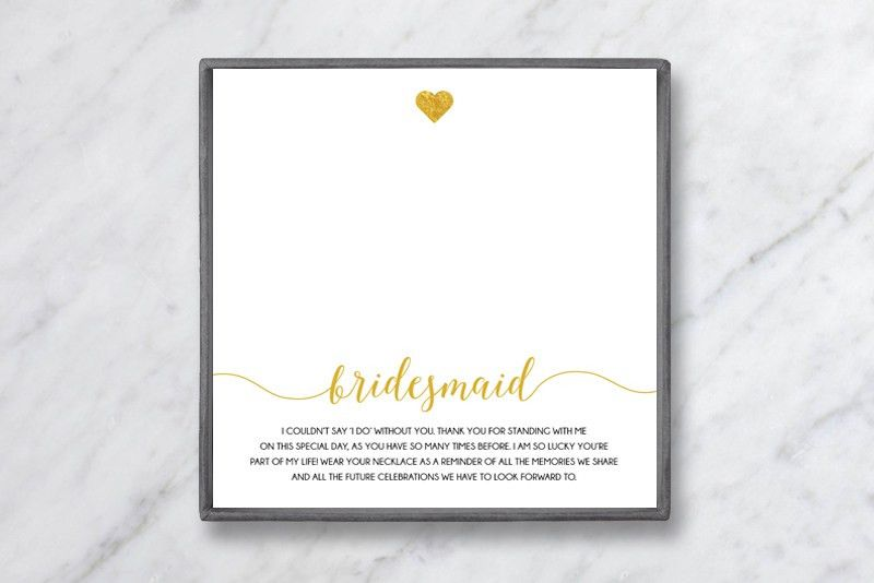 What to Write in a Bridesmaid Thank-You Card - Baublebible.com