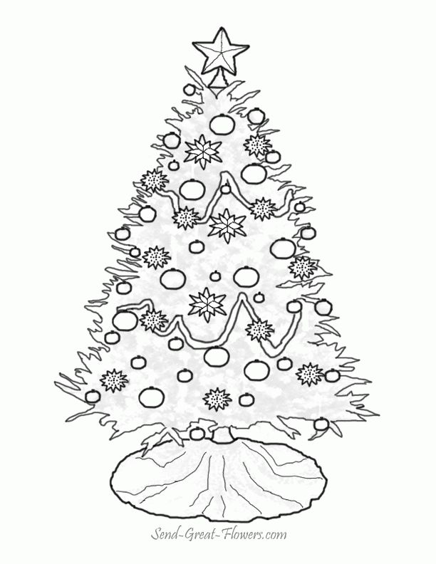 Christmas Tree Template Free - Coloring Home