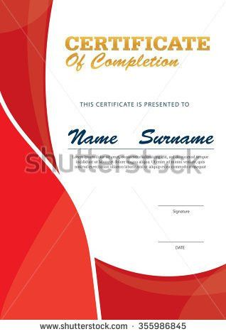 Modern Certificate Template Diploma Layout Stock Vector 382003927 ...