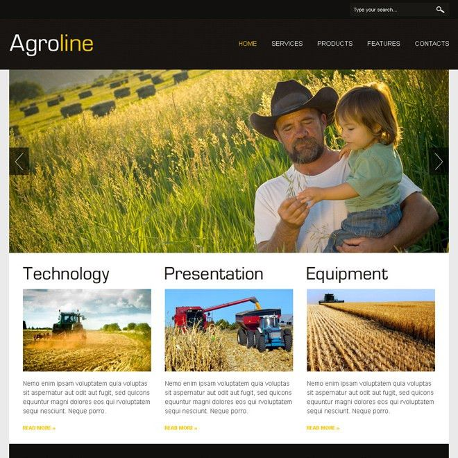 Agriculture html website templates to create website for your ...