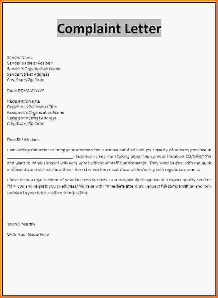 8+ write a complaint letter | Letter Template Word
