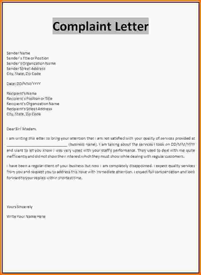 Complaint Letter Sample. Complaint Letter Sample Complaint-Letter ...