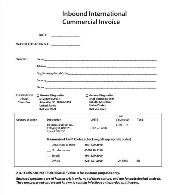 14+ Commercial Invoice Templates - Free Word, Excel, PDF Dowuments ...
