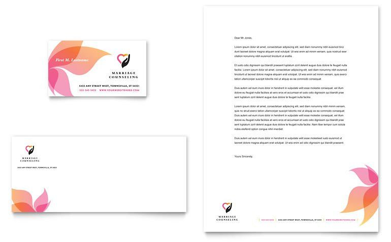 Marriage Counseling Business Card & Letterhead Template - Word ...