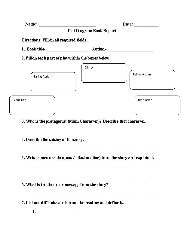 Fourth grade book report short form | Five paragraph essay outline ...
