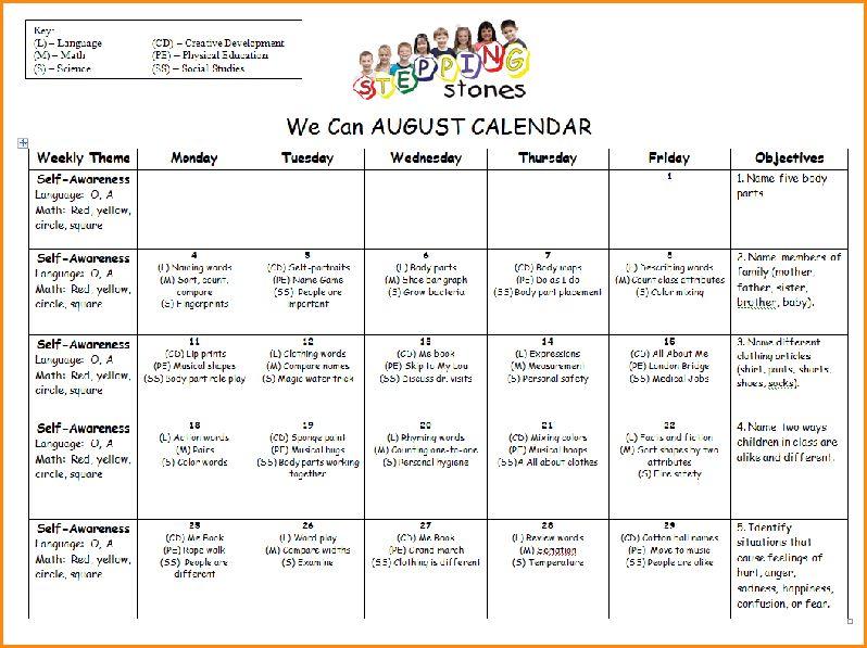 Sample Lesson Plan For Preschool.Sample Preschool Lesson Plan ...