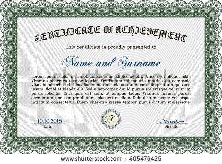 Orange Diploma Template Certificate Template Vector Stock Vector ...