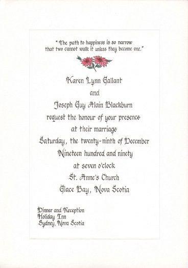 Wedding Invitation Letter | HASKOVO.ME