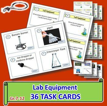 Lab Equipment - Task Cards {With Editable Template} | Lab ...