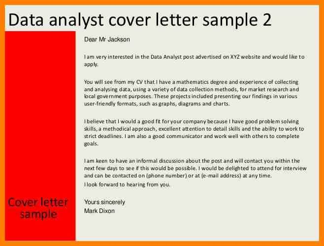 5+ data analyst cover letter | character refence