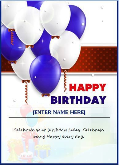 Birthday Wishing Card Template | Word & Excel Templates