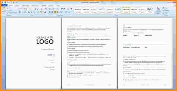microsoft word report templates