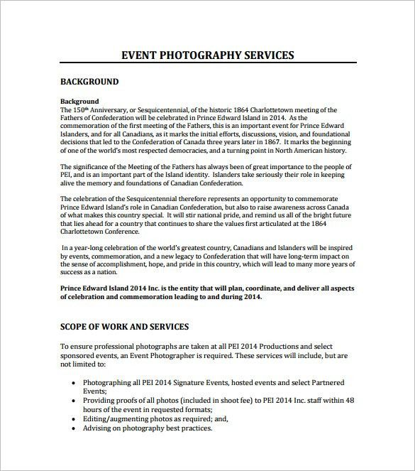 Catering Proposal Sample. Event Management Rfp Template Event ...