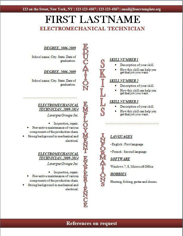 Open Office Resume Template. Resume Templates For Openoffice ...