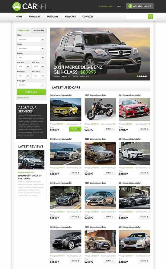 70+ Best Car Auto Website Templates Free & Premium - freshDesignweb