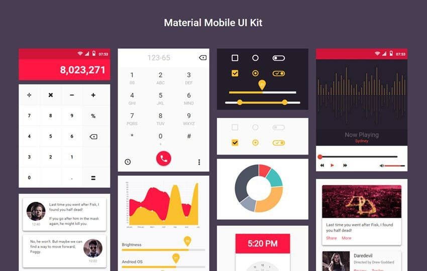 Material Mobile UI Kit a Flat Bootstrap Responsive Web Template by ...