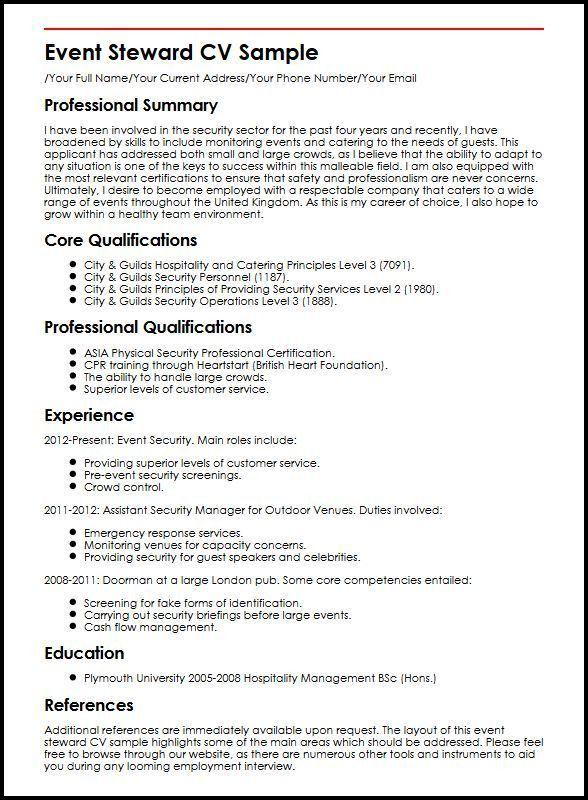 28+ [ Cv Event ] | Event Planner Resume,Event Steward Cv Sample ...