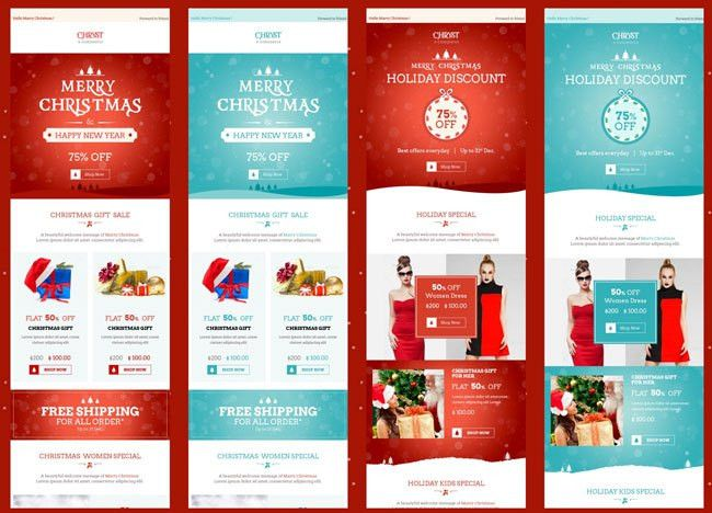 25+ Best Christmas Email Newsletter Templates 2016 - DesignMaz